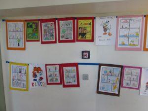 Schülercomics, entstanden während der Lesetage.